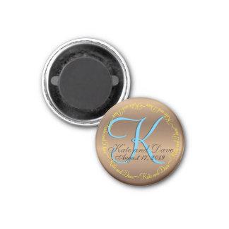Circle Text Bronze Monogram Magnet
