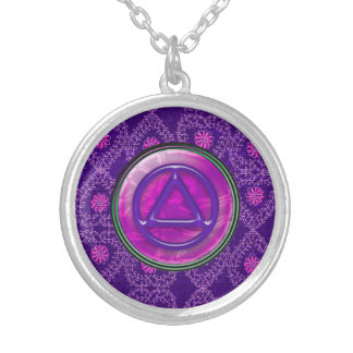 Circle Triangle Recovery Sobriety Necklace Pendant