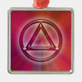 Circle Triangle Sober Recovery Hanging Ornament