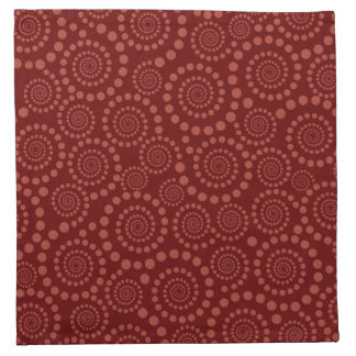 Circle Twirls custom cloth napkins