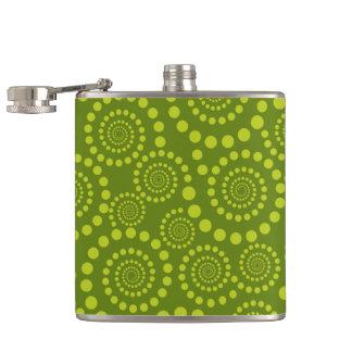Circle Twirls custom flask