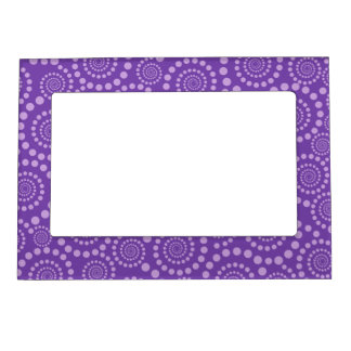 Circle Twirls custom picture frame Magnetic Frame