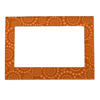 Circle Twirls custom picture frame Picture Frame Magnet