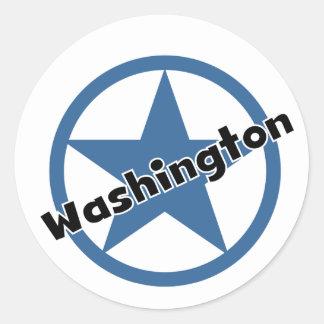 Circle Washington Round Stickers