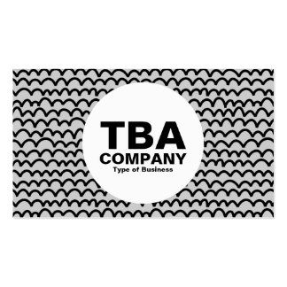 Circle - Wavy - Black on Gray Pack Of Standard Business Cards