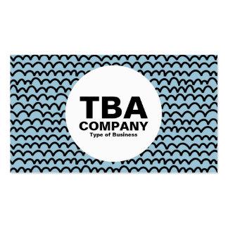 Circle - Wavy - Black on Lt Blue 9dc6d8 Pack Of Standard Business Cards
