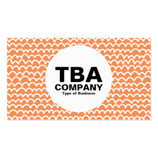 Circle - Wavy - White on Lt Orange f79256 Pack Of Standard Business Cards