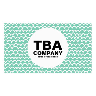 Circle - Wavy - White on Pastel Green 7dcfb6 Pack Of Standard Business Cards