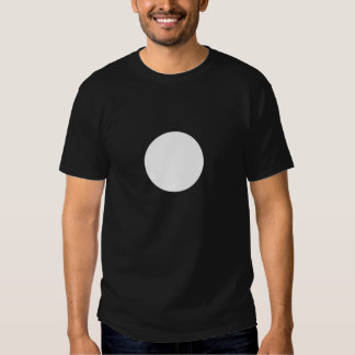Circle white on black t-shirt