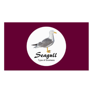 Circle - Yellow Legged Gull - Deep Crimson Pack Of Standard Business Cards