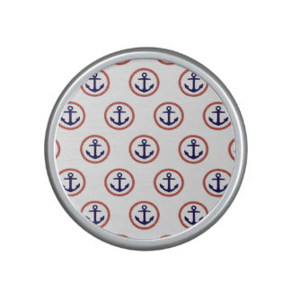 Circled Anchors Nautical Pattern Speaker