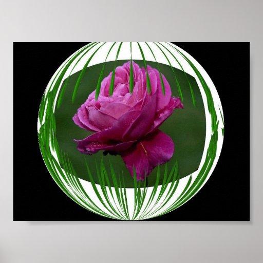 Circled Flower Print