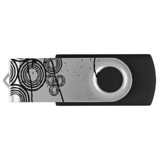 Circled Halftone Swivel USB 2.0 Flash Drive
