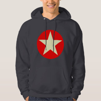 Circled Star - Cream and Red Hoodie