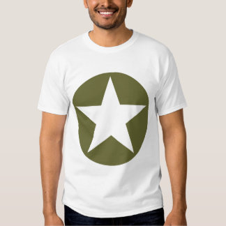 Circled Star - Olive Green T-shirt