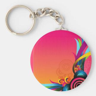 circles 1 basic round button key ring
