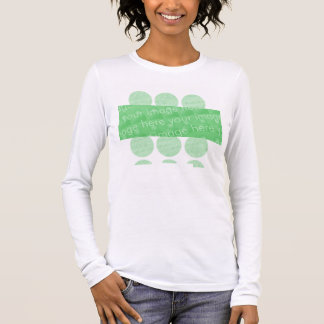 Circles and Box Design Effect Long Sleeve T-Shirt