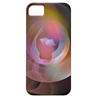 Circles and Cylinders, Abstract Fractal Barely There iPhone 5 Case