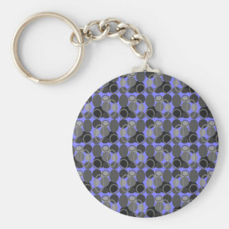Circles and Ovals Round Key Chain