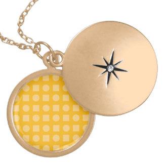 Circles and square orange pendant