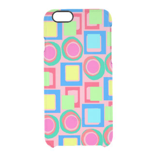 Circles and Squares Clear iPhone 6/6S Case