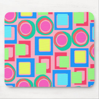 Circles and Squares Mouse Mat