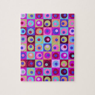 Circles and Squares Pattern Jigsaw Puzzle