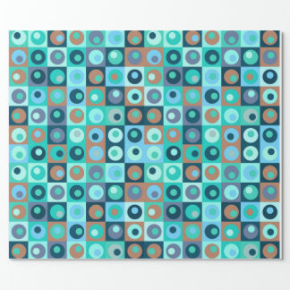 Circles and Squares Pattern Wrapping Paper