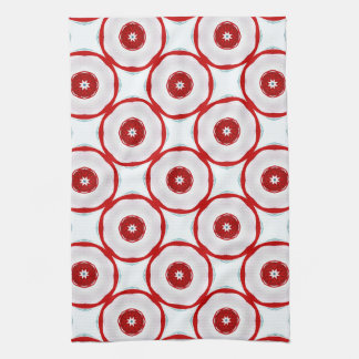Circles and Stars for the Holidays Tea Towel