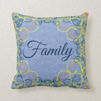 Circles and Swirls Personalised Reversible Cushion