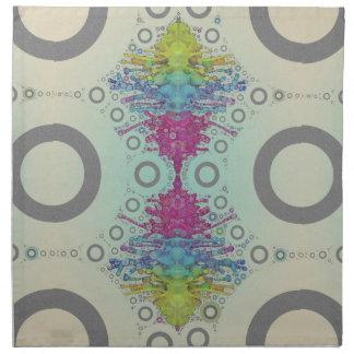 Circles and Waves Art Napkin