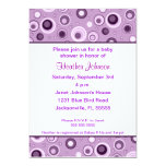 Circles Baby Shower - Purple 13 Cm X 18 Cm Invitation Card