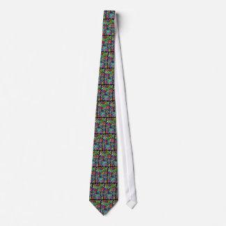 Circles Black Multicolored Tie