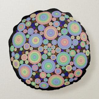 Circles circles everywhere round pillow