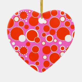 Circles & Dots Christmas Ornament