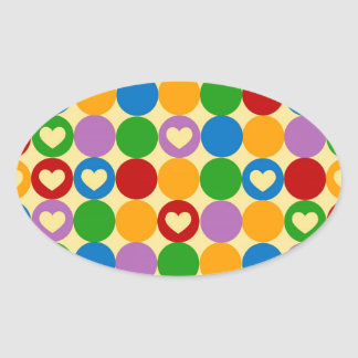Circles Hearts Oval Stickers