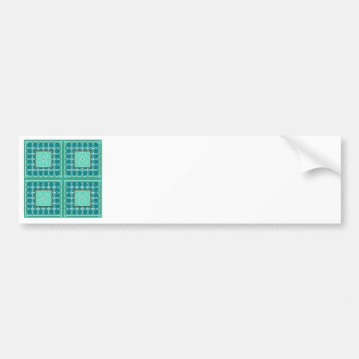 Circles in green quilt bumper stickers