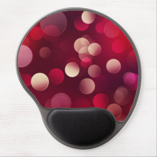 Circles in Red Gel Mouse Pads