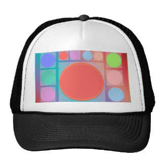 Circles in Squares : Full of Life Shades Pattern Trucker Hats