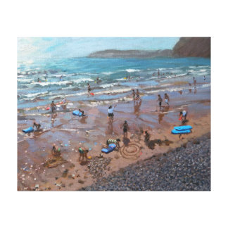 Circles in the Sand Sidmouth 2007 Canvas Print