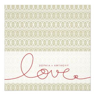 Circles + Love Stone Custom Wedding Invitation Invite