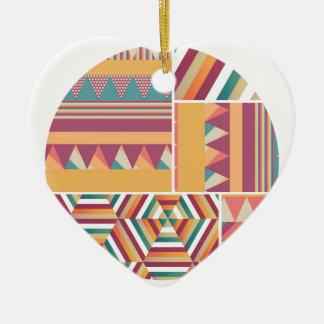 Circles of Color Ceramic Heart Decoration