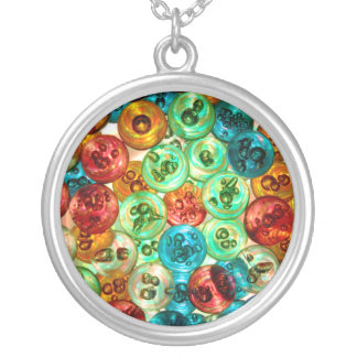 Circles of Color Silver Plated Necklace