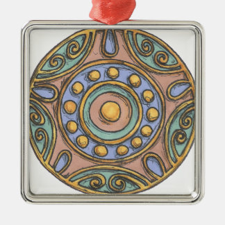 Circles (Pastel) Christmas Ornament