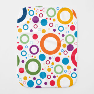 Circles pattern burp cloth