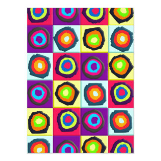 circles pattern 14 cm x 19 cm invitation card