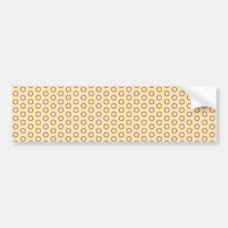 circles peas dab polka dots scores pünktchen bumper sticker