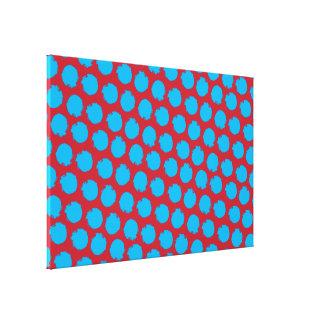 Circles pop colors 4 stretched canvas prints