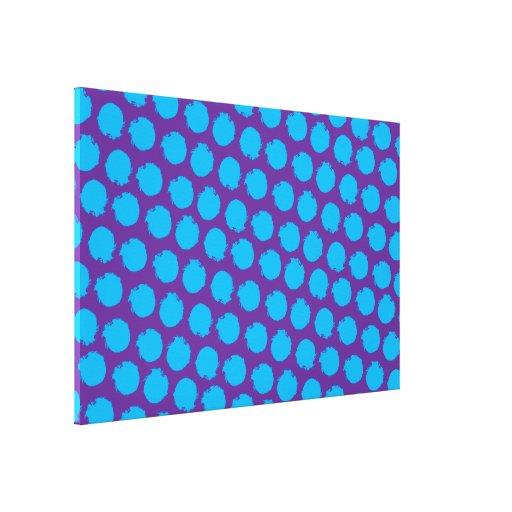 Circles pop colors 5 stretched canvas print