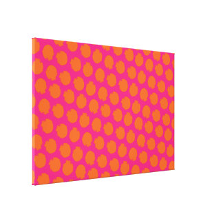 Circles pop colors canvas print